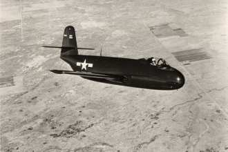 A Vought F6U Pirate in flight in 1946. Vought photo
