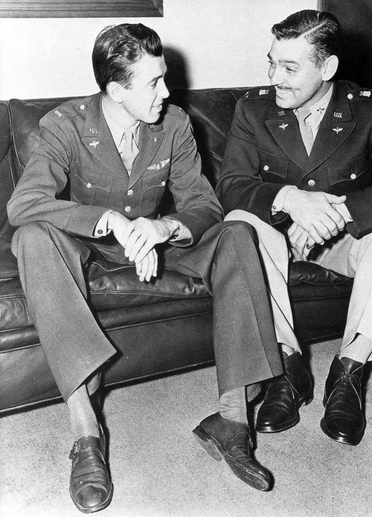 Jimmy Stewart and Clark Gable