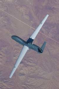 The latest Global Hawk, the Block 40, in flight