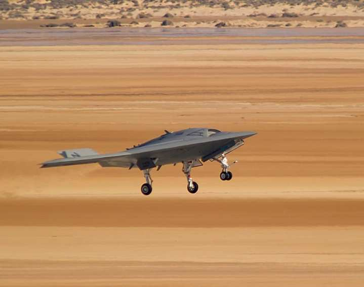 Northrop Grumman X-47B UCAS second flight