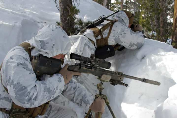 Marine scout sniper with M40A5