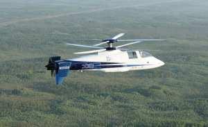Sikorsky X-2 in flight