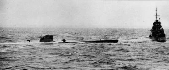 U-110 captured at sea