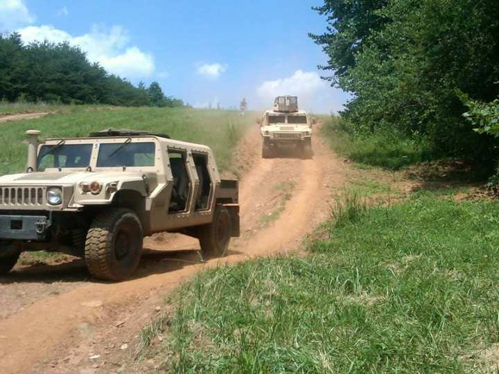 Granite-Textron HMMWV Recap vehicles on the test track