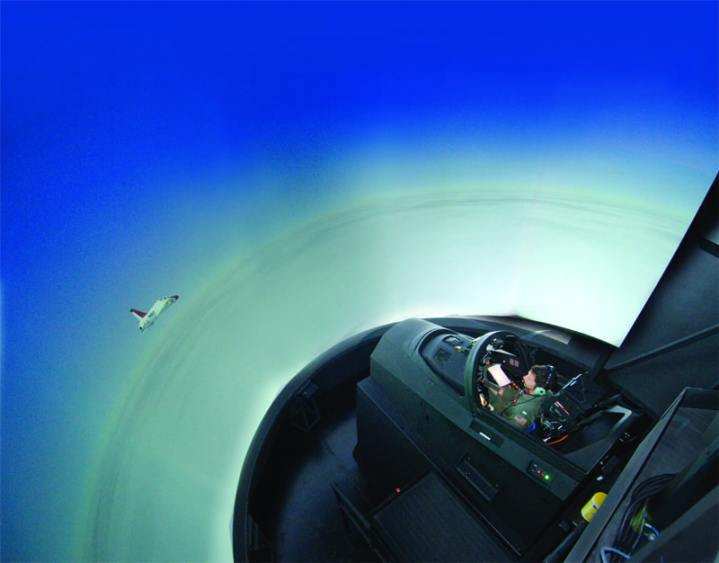 ground flight training in the T-45C visual simulator