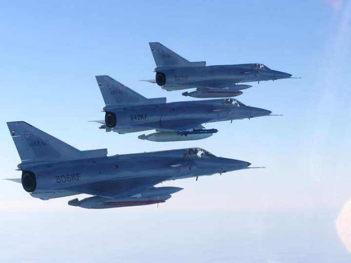 ATAC Kfirs in formation