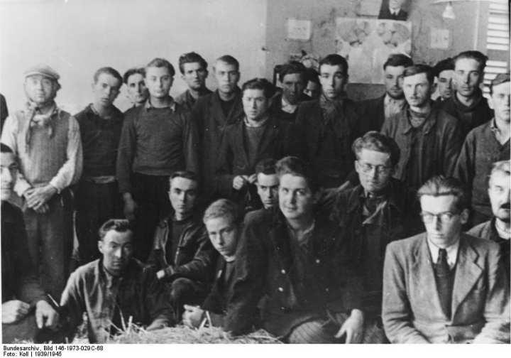 Captured resistance fighters, France