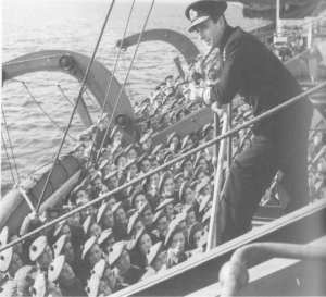 Lord Mountbatten with 6 Commando, Adour raid, 1942