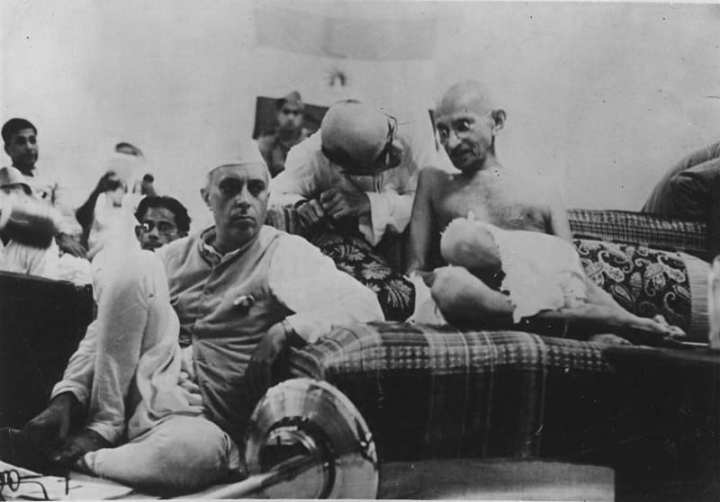 Nehru with Gandhi,1942