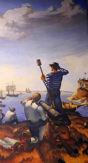 """""""Defense of the Cutter Eagle"""" by Aldis B. Browne, II"""