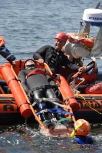 Cape Elizabeth Water Extrication Team training
