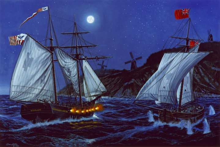 The revenue cutter Vigilant captures the privateer Dart