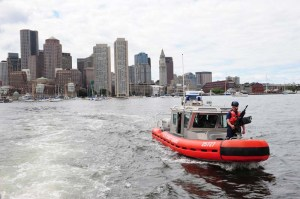 response boat medium patrol in Boston Harbor