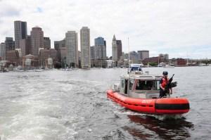 response boat medium patrol in Boston Harbor