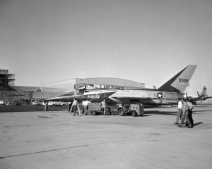 F-107A delivered to NACA