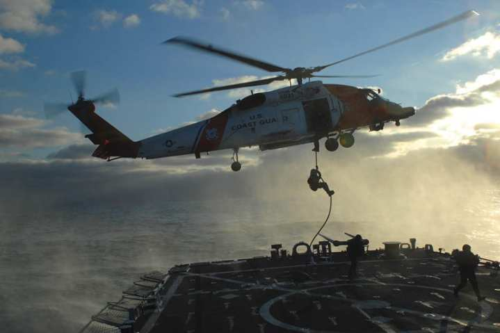 U.S. Coast Guard Fast Rope Exercise