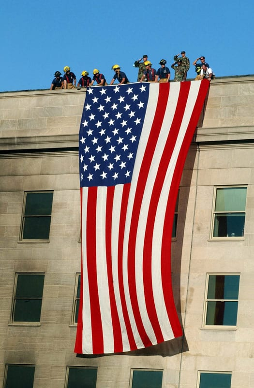 flag-at-Pentagon-after-9-11