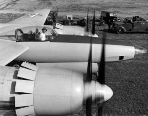 Howard Hughes In Cockpit of XF-11