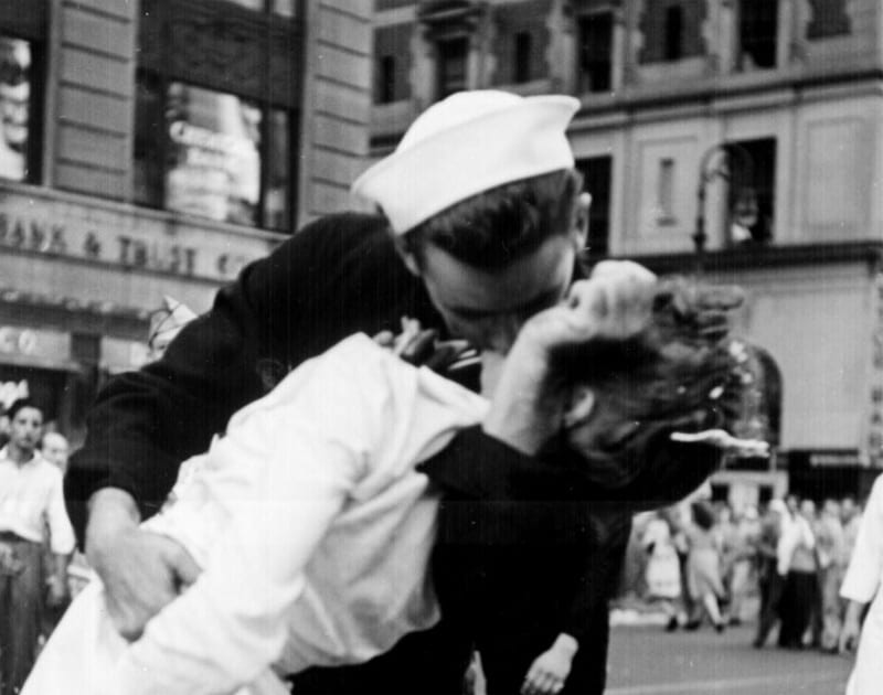 The Kissing Sailor Being There In Times Square V J Day