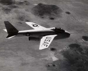 Bell X-5 in flight