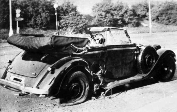 Heydrich's Car After Assassination Attempt