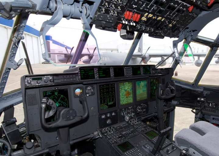 C-130J glass cockpit