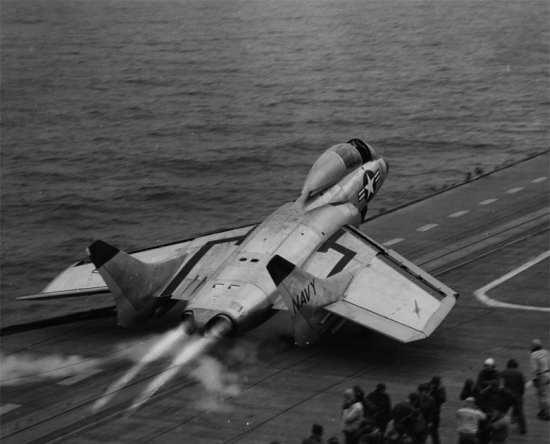 F7U Cutlass launch