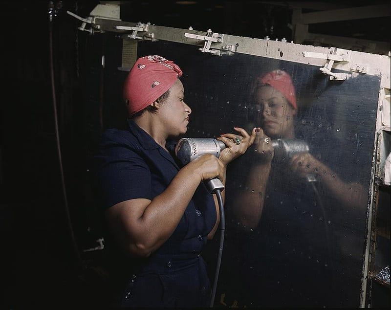 African-American Woman War Worker During World War II