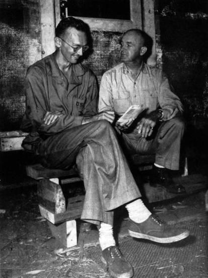 Richard Tregaskis and Maj. Gen. Alexander A. Vandegrift