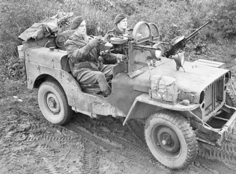 SAS jeep. Germany, Nov.18, 1944