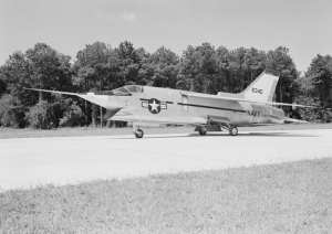 Vought XF8U-3 at Wallops Island 1959