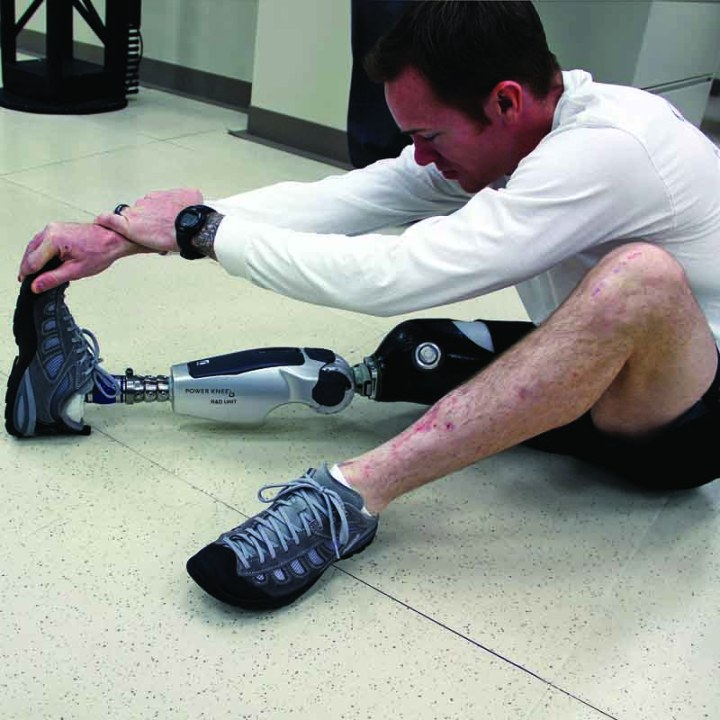 BiOM ankle and foot combination and POWER KNEE Lance Cpl. Adrian Simone prosthetics