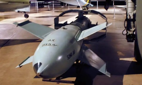 A German Fritz-X Guided Bomb in the World War II Gallery at the National Museum of the U.S. Air Force. U.S. Air Force photo