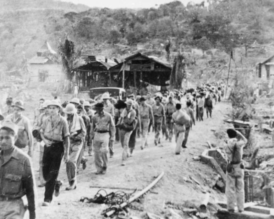 Prisoners of war on the Bataan Death March. U.S. Air Force photo