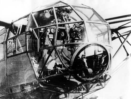 A view of the cockpit of a Fa 223 Drache. EADS Heritage photo