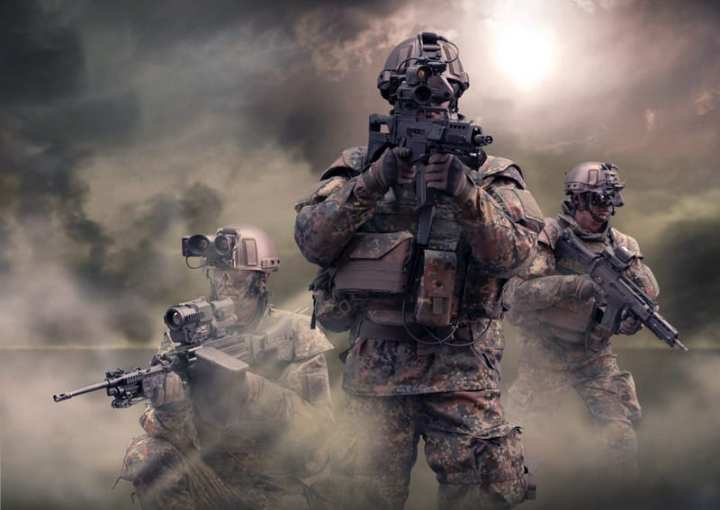 """The U.S. Army isn't the only service developing """"soldier systems."""" Germany's Gladius system aims to put German Bundeswehr infrantrymen on the global cutting edge in terms of networking capabilities, command and control, and operational efficiency. Rheinmetall Defence photo"""