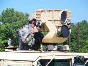 The U.S. Army currently fields sensor systems such as the Long-Range Advance Scout Surveillance System (LRAS3) which provides the ability to detect, recognize, identify and geo-locate distant targets. A new ground-based sensor would be automated to track UAS and personnel targets. U.S. Army photo