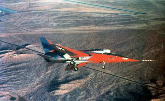 A North American F-107A in flight. U.S. Air Force photo