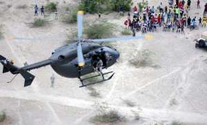 A Florida National Guard UH-72A Lakota participates in a personnel recovery exercise, May 2, 2011. The Lakota is a newly fielded light helicopter meant to perform peacetime missions traditionally issued to the UH-60 Black Hawk. It could be conducting similar missions in the future for the U.S. Air Force. U.S. Army photo by Sgt. Aaron Leblanc