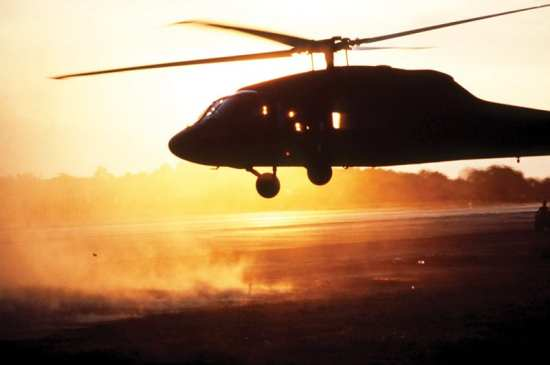 Operation Urgent Fury Point Salines Black Hawk landing