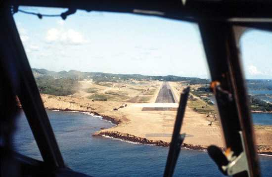 Operation Urgent Fury Point Salines from aircraft