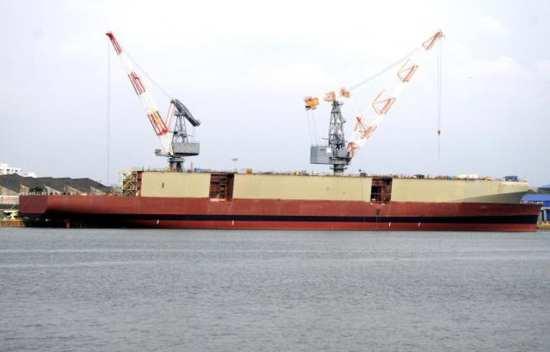 IAC-1 at Kochi after floatout