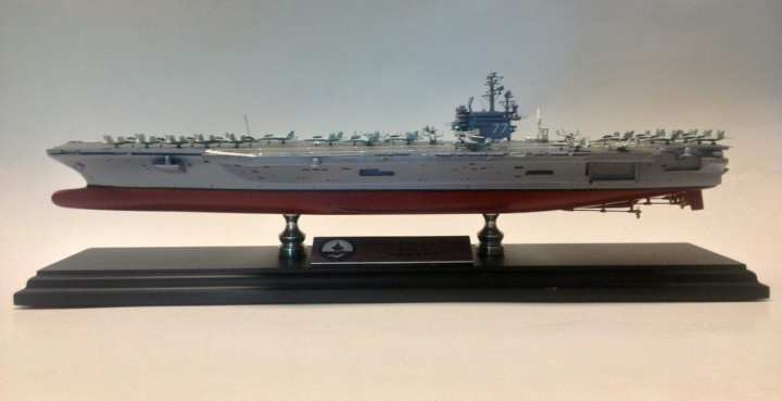 Handmade reproduction of the USS George H. W. Bush (CVN 77)