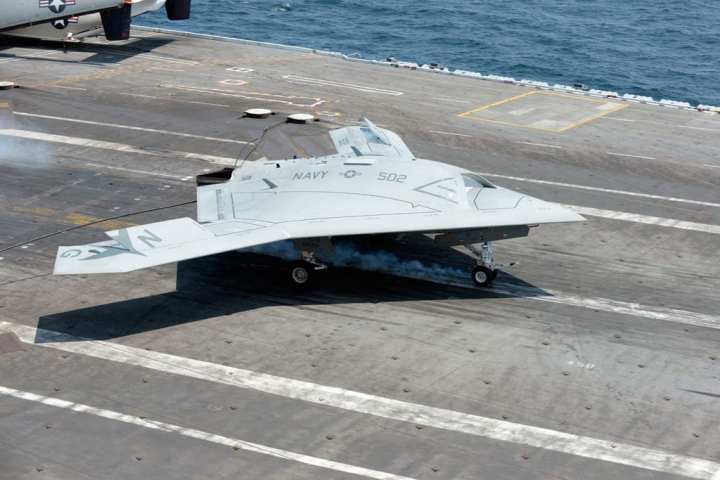 X-47B traps aboard Bush