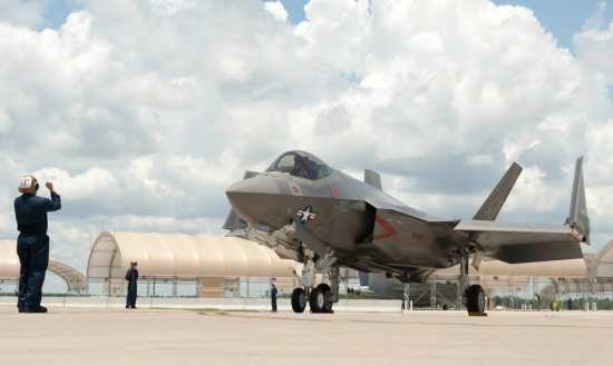First VFA-101 F-35C arrival