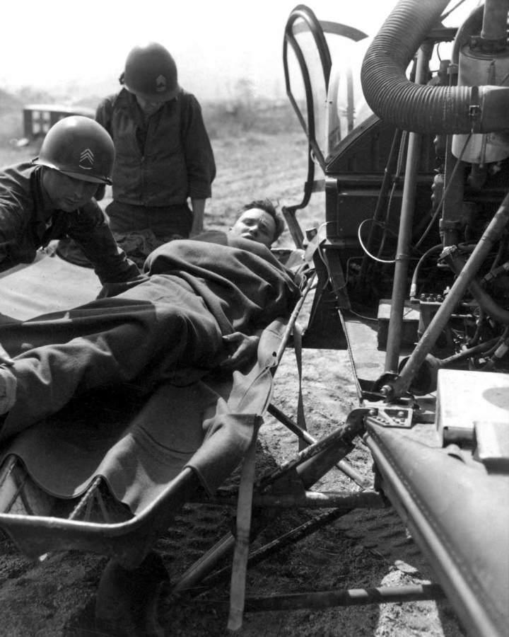 Korean War Helicopter Medical Evacuation