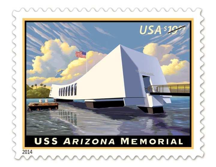 USS Arizona Memorial Stamp
