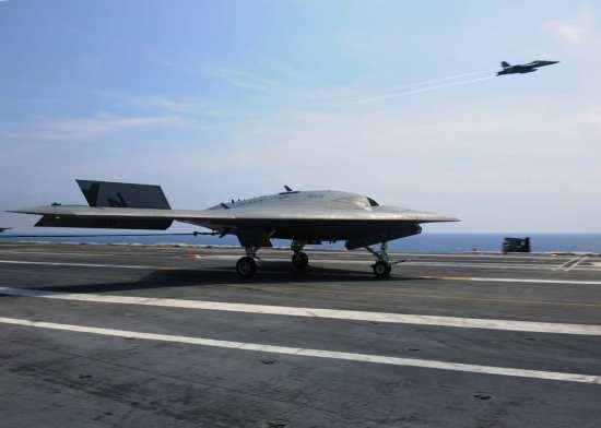 X-47B traps aboard