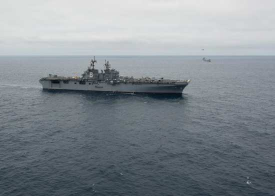 America at sea