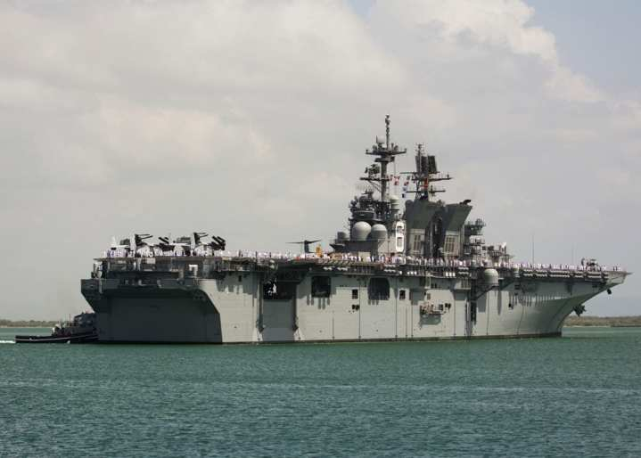 USS America stern